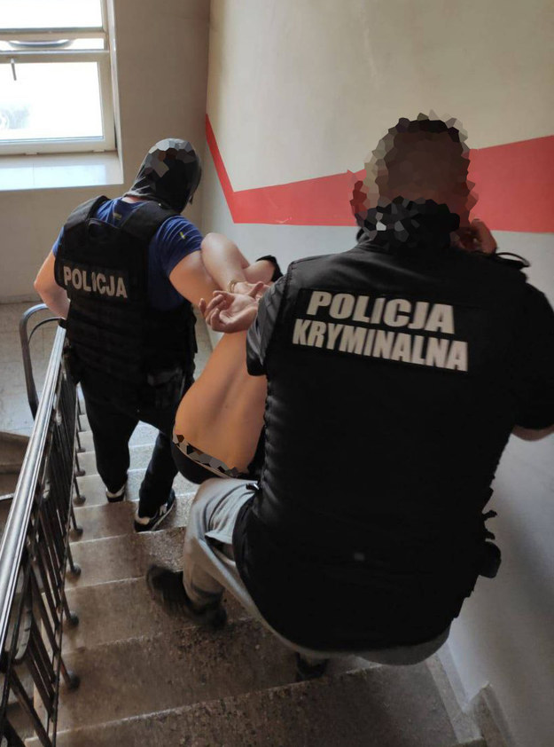 Zatrzymanie mężczyzny w związku z zabójstwem 20-latka /Policja Mazowiecka  /