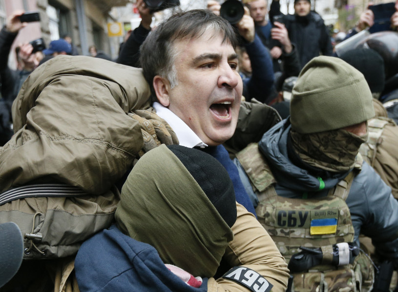 Zatrzymanie Micheila Saakaszwilego /REUTERS/Valentyn Ogirenko /Agencja FORUM