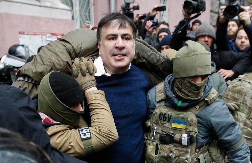 Zatrzymanie Micheila Saakaszwilego /STEPAN FRANKO /PAP/EPA
