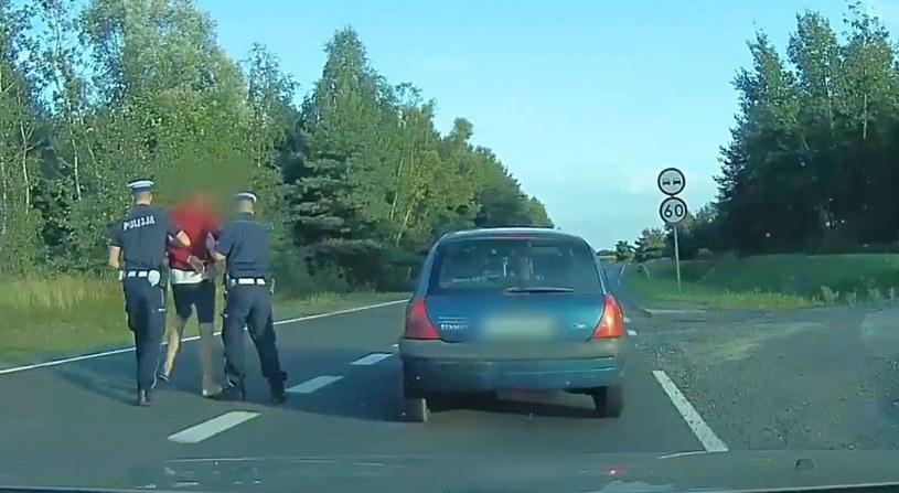 Zatrzymanie pijanego kierowcy /Policja