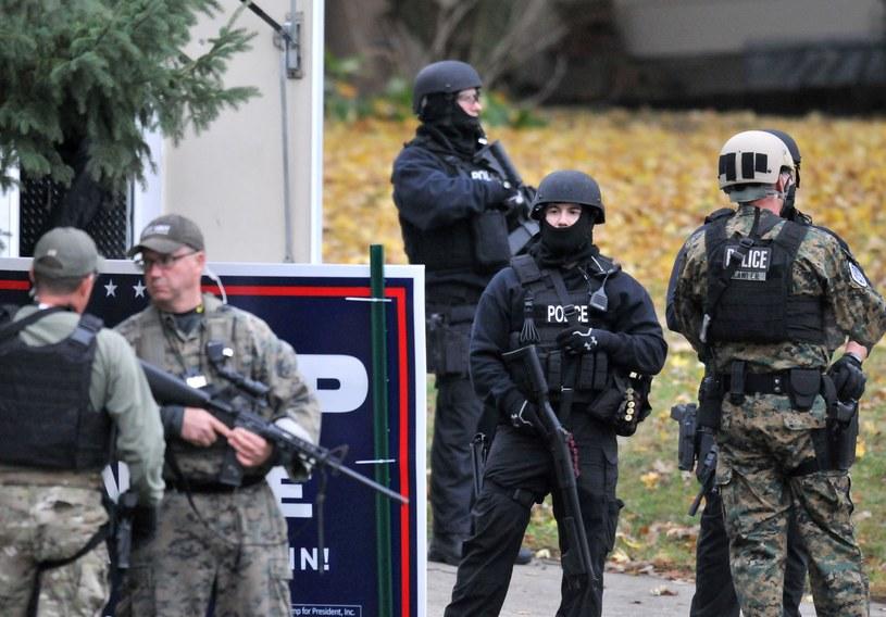 Zatrzymanie podejrzanego /GETTY IMAGES NORTH AMERICA Steve Pope /AFP