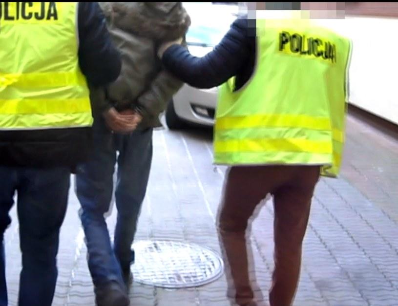 Zatrzymanie podejrzanego /Policja