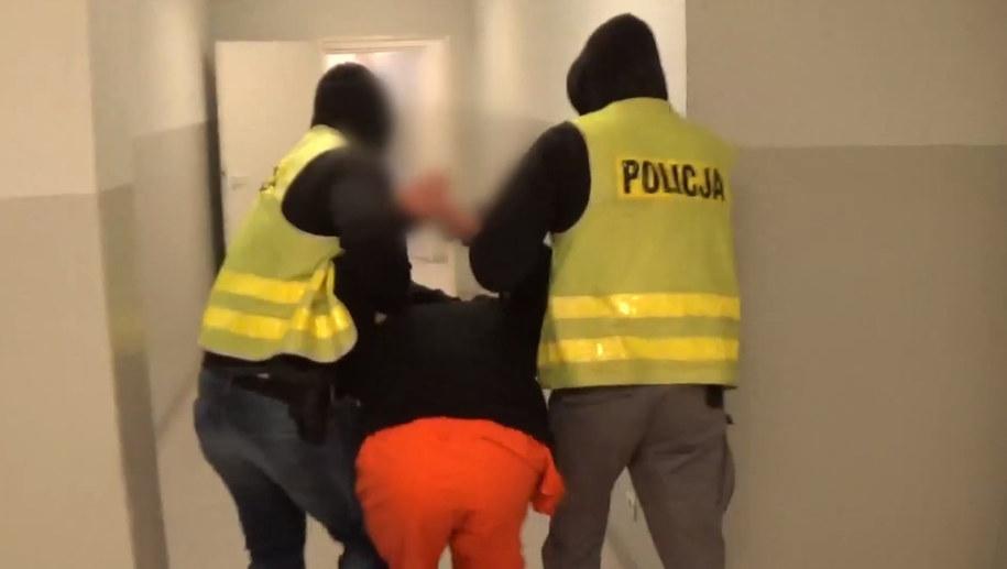 Zatrzymany 24-latek /KMP w Olsztynie /Zrzut ekranu