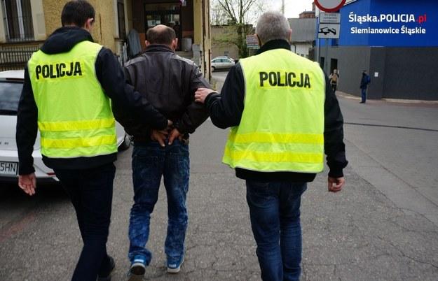 Zatrzymany mężczyzna /Policja