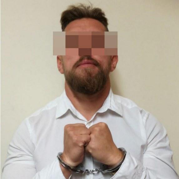 Zatrzymany Paweł M., ps. Misiek, źródło: Policja /