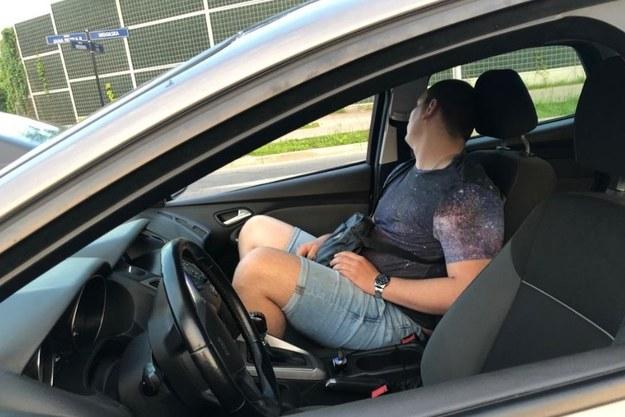 zatrzymany przez policyjne małżeństwo kierowca /Policja