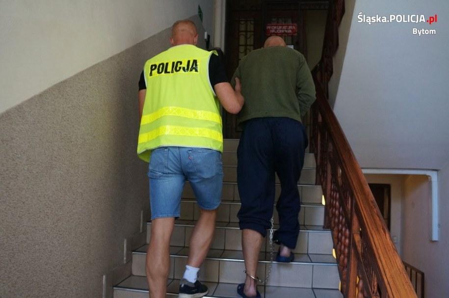 Zatrzymany w Bytomiu mężczyzna /Policja /