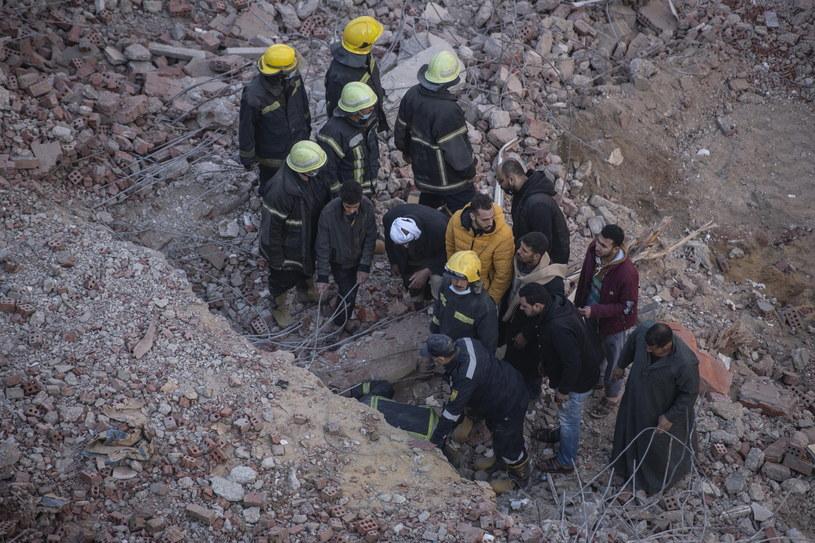 Zawalenia budynków nie są rzadkością w Egipcie /MOHAMED HOSSAM /PAP/EPA