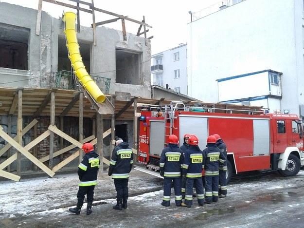 Zawalił się strop. Jedna osoba została ranna /Przemysław Mzyk /RMF FM