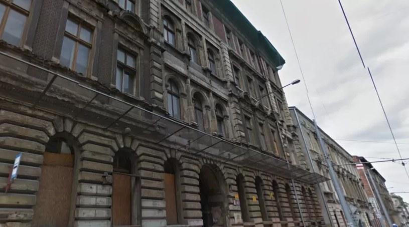 Zawaliła się kamienica w Łodzi /Google Maps /