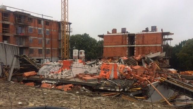 Zawalony budynek w Bielsku-Białej /Anna Kropaczek /RMF FM
