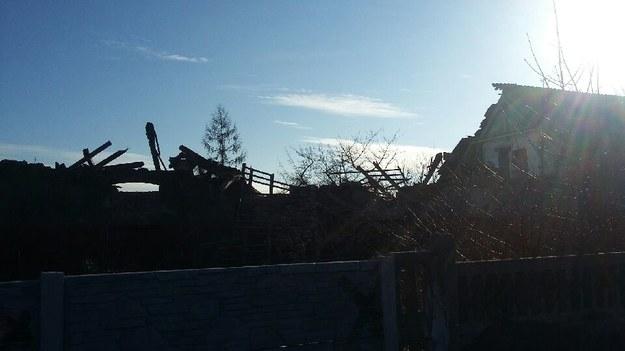Zawalony budynek w Grudziądzu /Gorąca Linia RMF FM - Artur /Gorąca Linia RMF FM