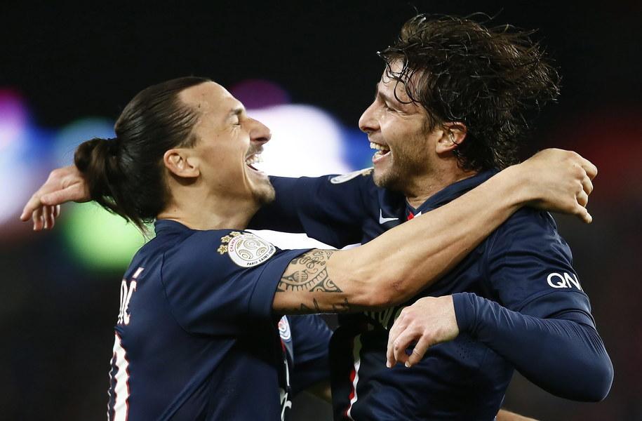 bc3b0db63 Zawodnicy Paris St Germain's Maxwell (po prawej) i Zlatan Ibrahimović /IAN  LANGSDON /