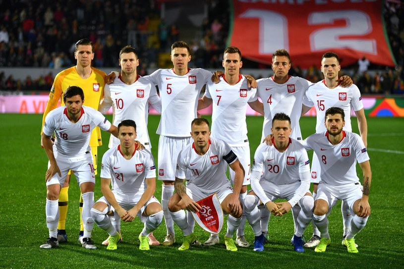 Zawodnicy piłkarskiej reprezentacji Polski przed rozpoczęciem meczu Ligi Narodów z Portugalią /Bartłomiej  Zborowski /PAP