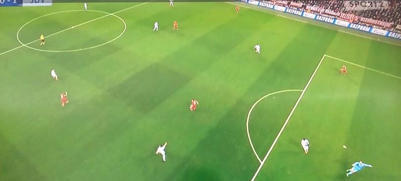 Zawodnik Juventus nie był na spalonym /screen z nc+ /