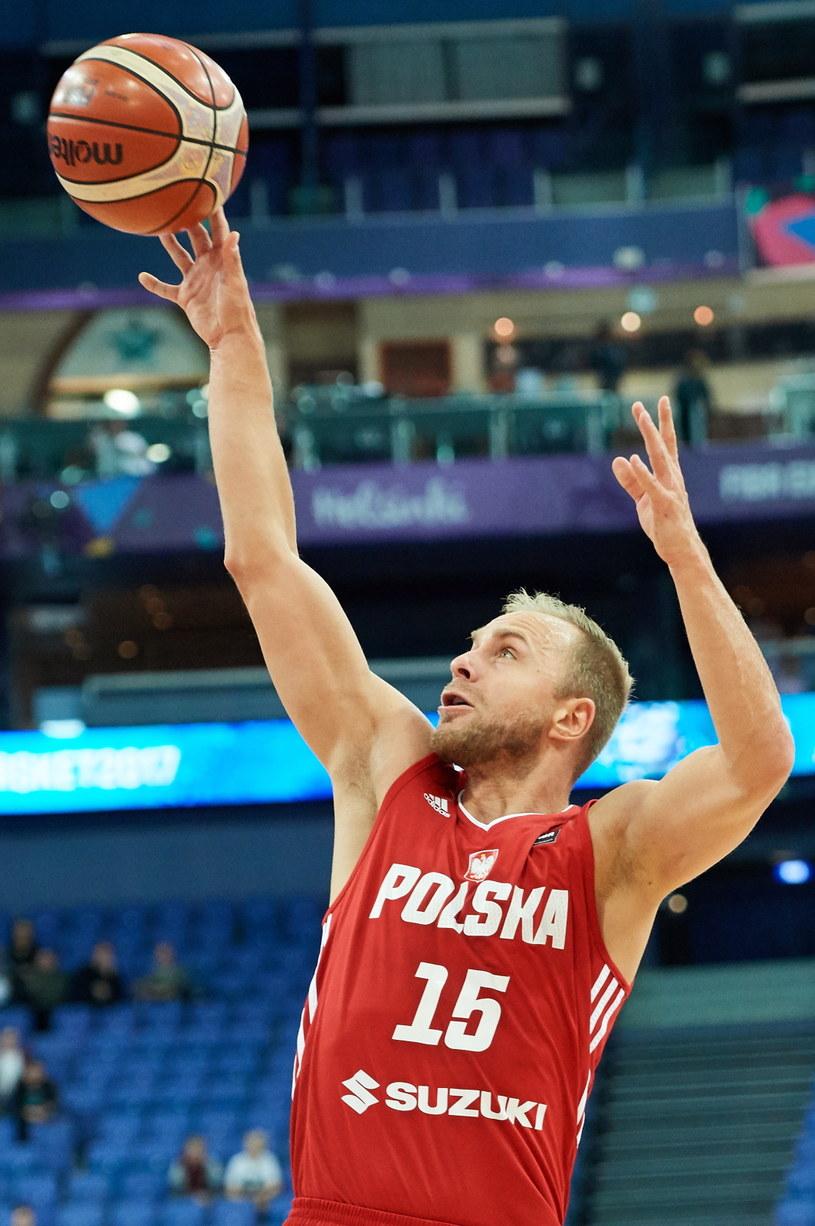 Zawodnik reprezentacji Polski Łukasz Koszarek /Adam Warżawa /PAP