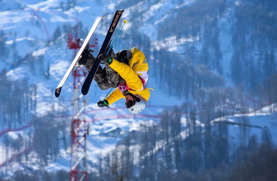 Zawodnik slopestyle Benedikt Mayr w czasie treningu /JENS BUETTNER    /PAP/EPA