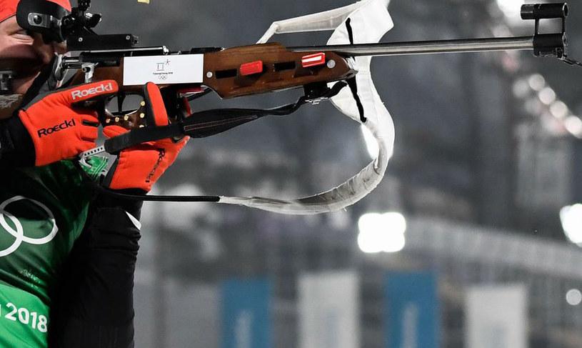 Zawody biathlonowe /AFP