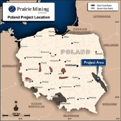 Zaznaczono złoża węgla kamiennego w tzw. Lublin Coal Project /Informacja prasowa