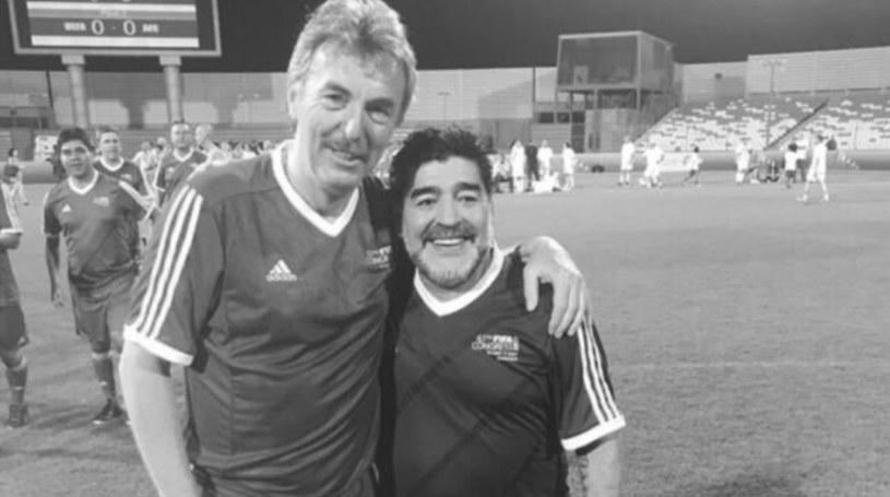 Zbigniew Boniek i Diego Maradona /