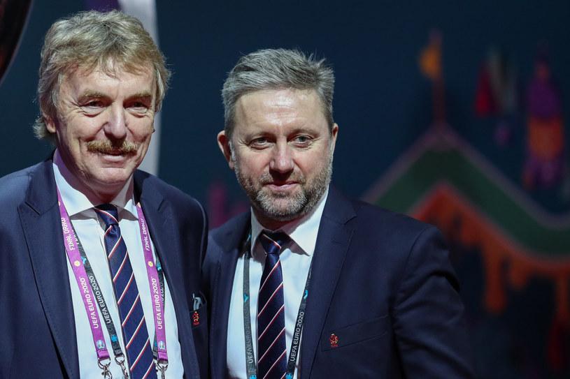 Zbigniew Boniek i Jerrzy Brzęczek /LUKASZ GROCHALA/CYFRASPORT / NEWSPIX.PL /Newspix