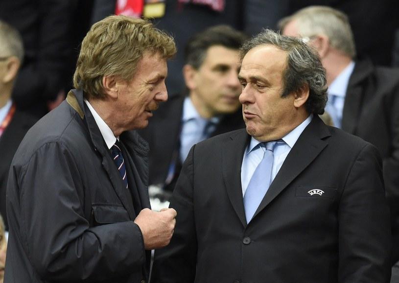 Zbigniew Boniek i Michel Platini /AFP