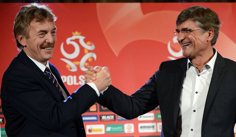 Zbigniew Boniek i selekcjoner Adam Nawałka /AFP