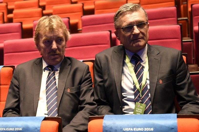 Zbigniew Boniek i selekcjoner Adam Nawałka. /AFP