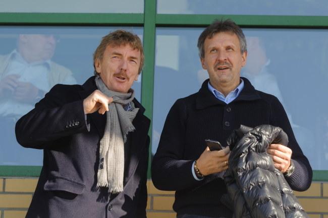 Zbigniew Boniek i Stefan Majewski /Jakub Kaczmarczyk /PAP
