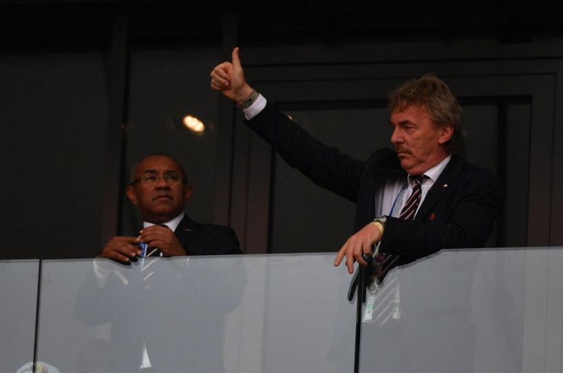 Zbigniew Boniek na stadionie w Moskwie przed meczem z Senegalem /Bartłomiej  Zborowski /PAP