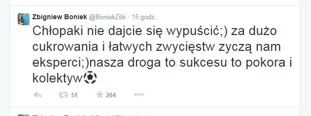 Zbigniew Boniek na Twitterze po meczu z Niemcami. /INTERIA.PL