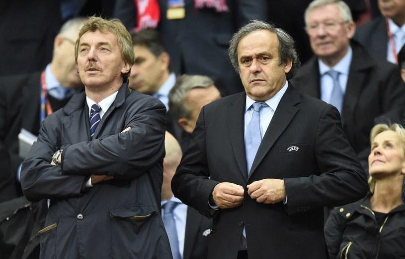Zbigniew Boniek w towarzystwie Michela Platiniego /AFP