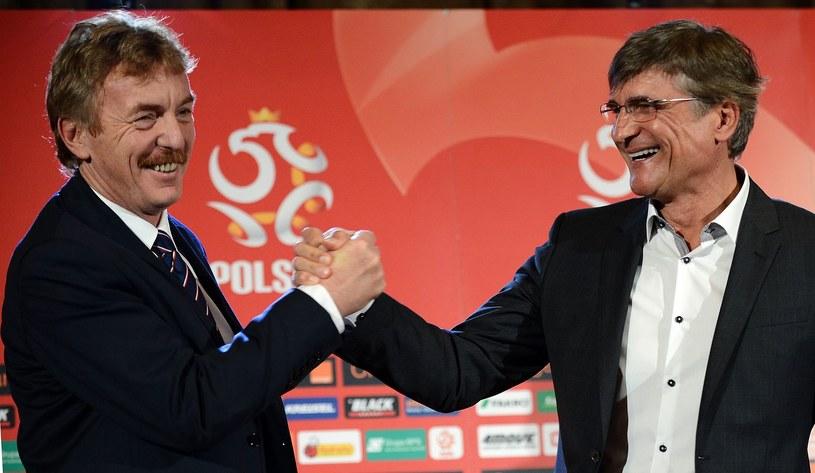 Zbigniew Boniek (z lewej) i Adam Nawałka /AFP