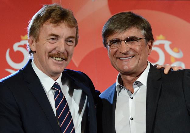 Zbigniew Boniek (z lewej) i selekcjoner reprezentacji Polski Adam Nawałka /AFP