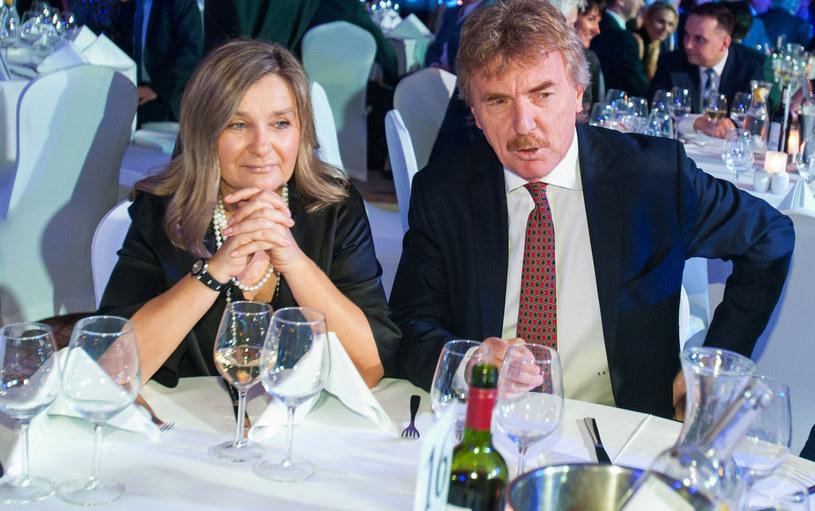 Zbigniew Boniek z żoną /PIOTR GRZYBOWSKI/AGENCJA SE /East News