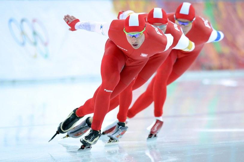 Zbigniew Bródka (na prowadzeniu) będzie bronił tytułu mistrza Polski /fot. JUNG YEON-JE / AFP /AFP