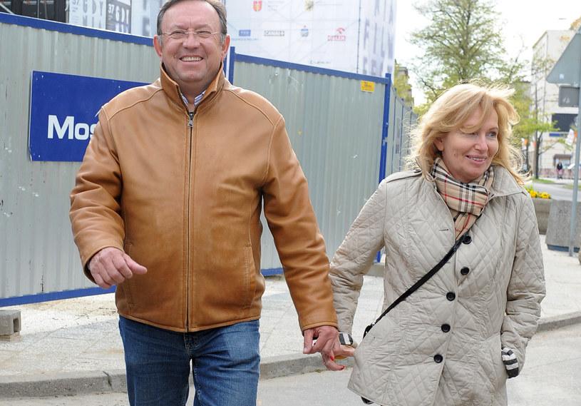 Zbigniew Buczkowski z żoną /Andras Szilagyi /MWMedia