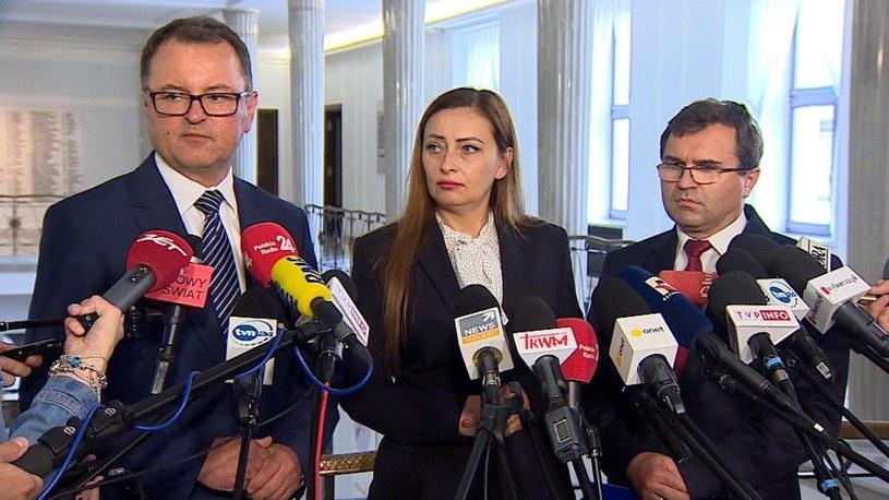 Zbigniew Girzyński, Arkadiusz Czartoryski oraz Małgorzata Janowska opuszczają klub PiS /Polsat News