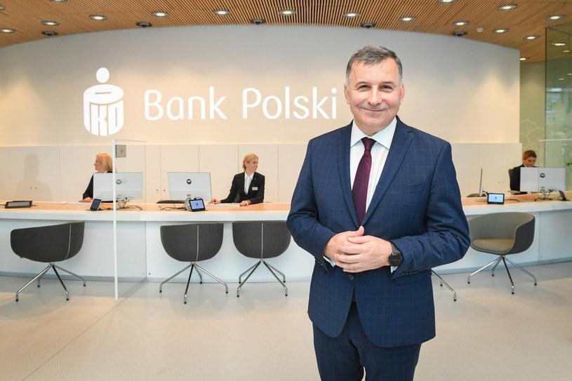 Zbigniew Jagiełło, najdłużej urzędujący szef PKO BP /Jacek Domiński /Reporter