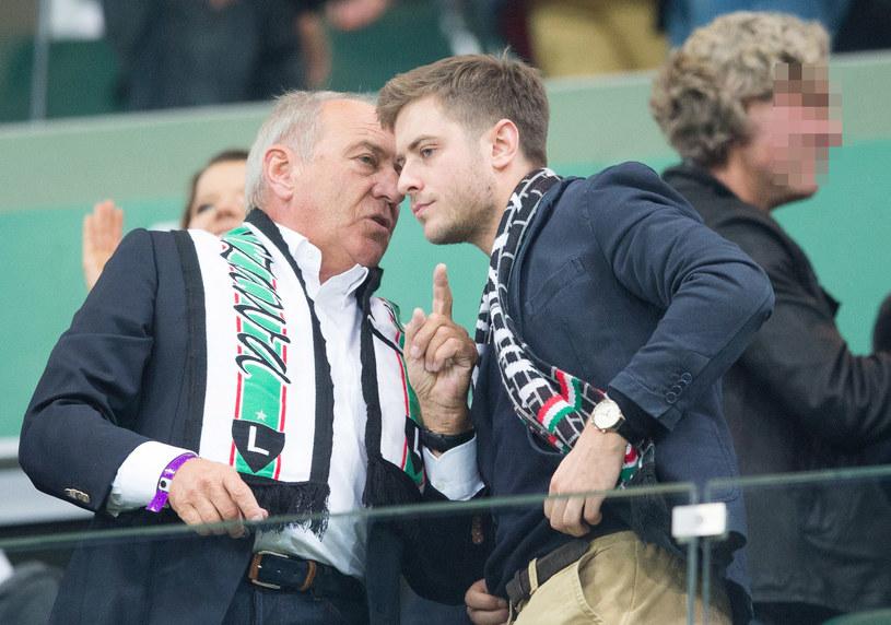Zbigniew Niemczycki z synem Mikołajem Niemczyckiem /Andrzej Iwańczuk /Reporter
