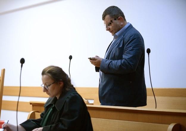Zbigniew S. na sali sądowej /Jacek Turczyk /PAP