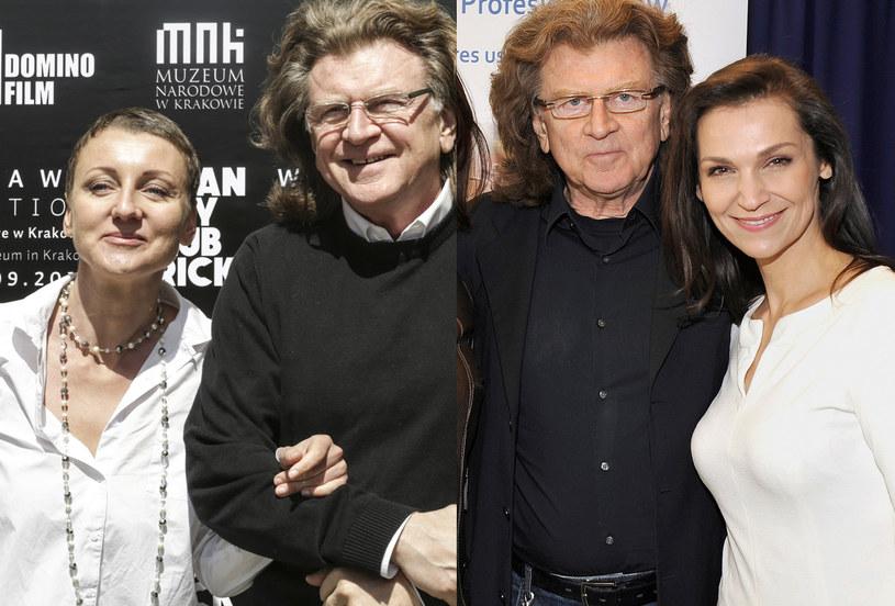 Zbigniew Wodecki z córką Katarzyną (po lewej), Zbigniew Wodecki z Olgą Bończyk (po prawej) /Beata Zawrzel/AKPA Gałązka /East News