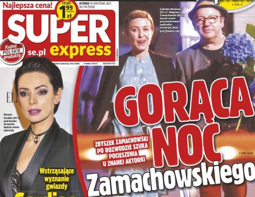 """Zbigniew Zamachowski i Gabriela Muskała na okładce """"Super Expressu"""""""