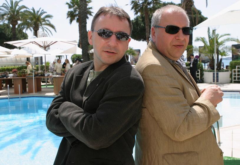 Zbigniew Zamachowski (Shrek) i Jerzy Stuhr (Osioł) na festiwalu w Cannes /Darek Majewski /Agencja FORUM