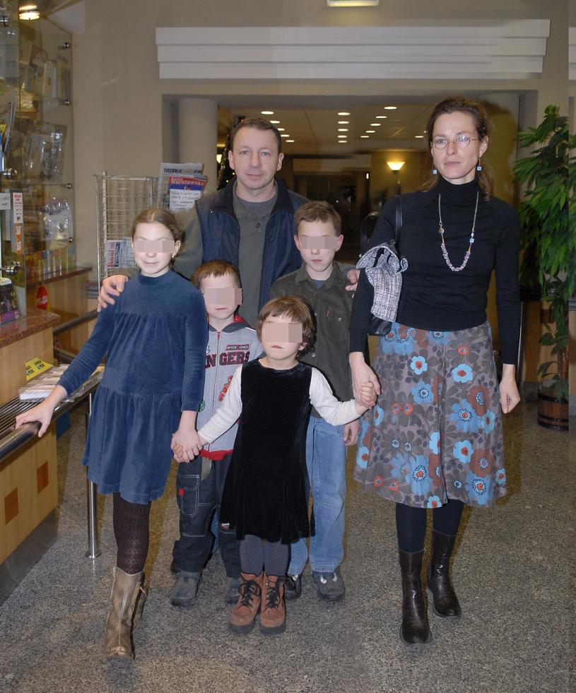 Zbigniew Zamachowski z byłą żoną i dziećmi /Tricolors /East News