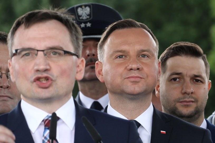 Zbigniew Ziobro, Andrzej Duda i Patryk Jaki /STANISLAW KOWALCZUK /East News