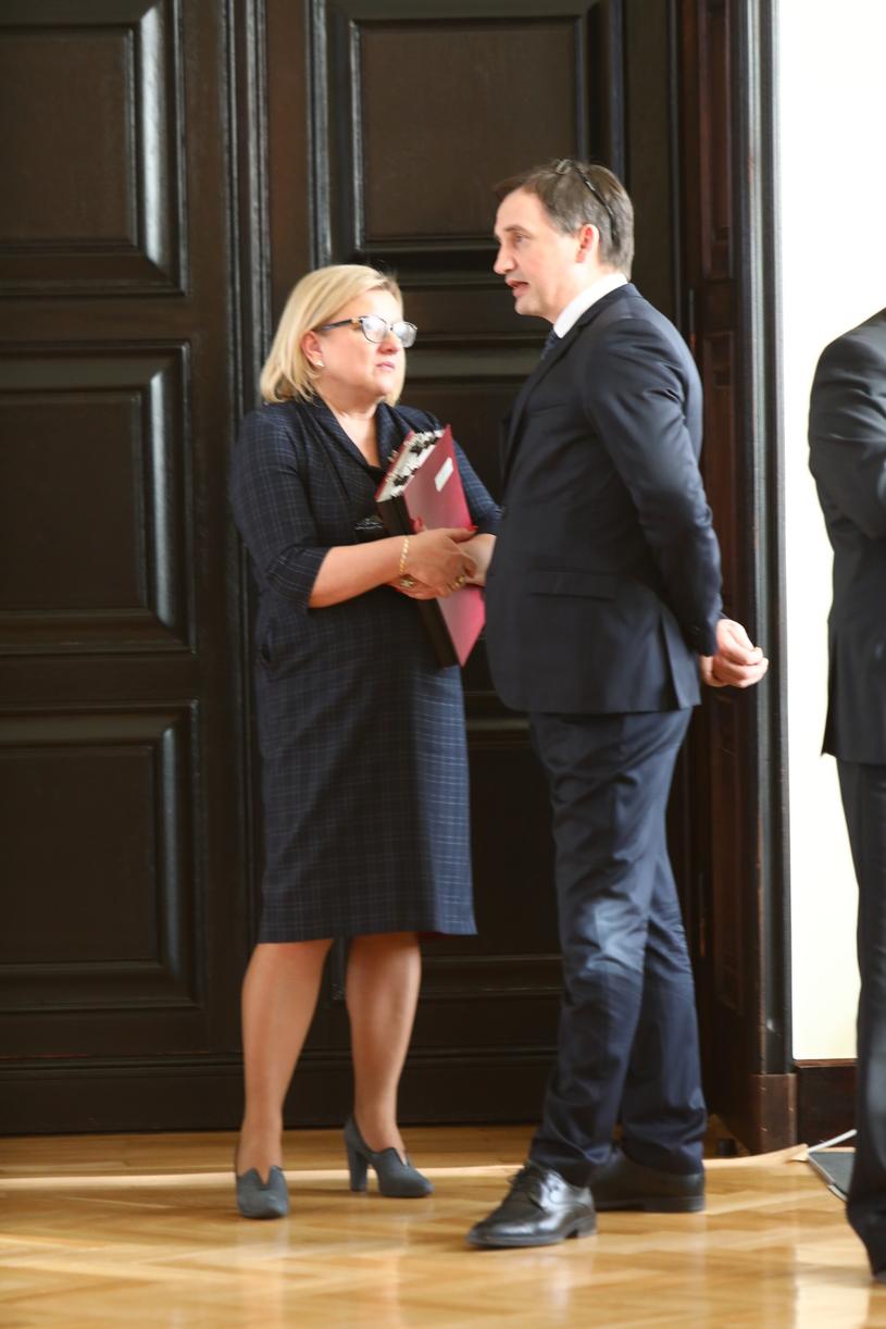 Zbigniew Ziobro i Beata Kempa w Sejmie /Stanisław Kowalczuk /East News