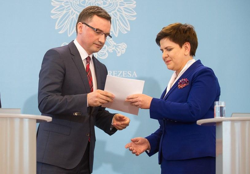 Zbigniew Ziobro i Beata Szydło /East News