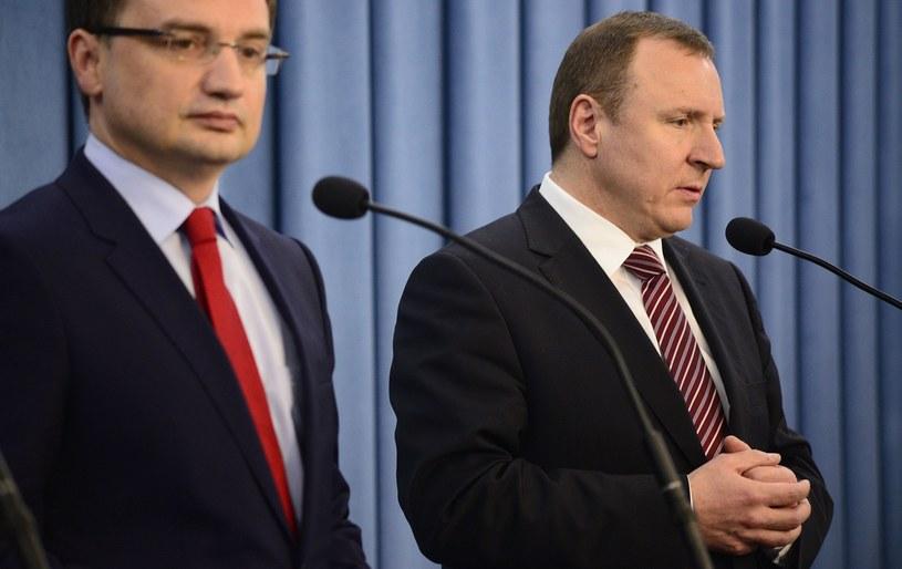 Zbigniew Ziobro i Jacek Kurski /Jakub Wosik  /Reporter