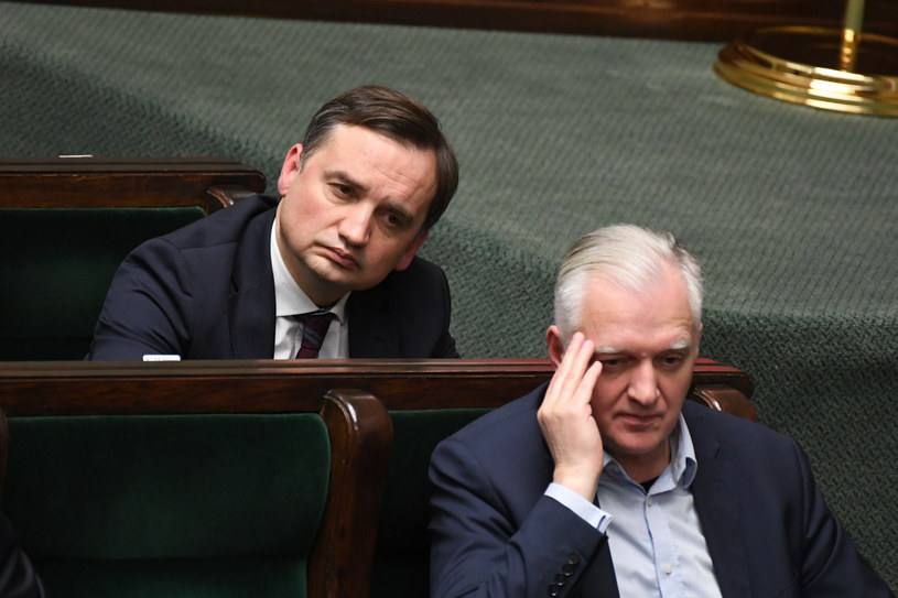 Zbigniew Ziobro i Jarosław Gowin moga stracić wpływy w rządzie /Jacek Dominski/REPORTER /Reporter